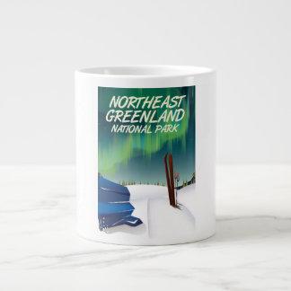 Caneca De Café Gigante Poster de viagens do nordeste de Greenland