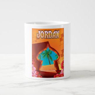 Caneca De Café Gigante Poster de viagens do palácio de Jordão