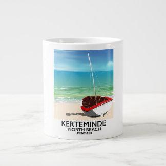 Caneca De Café Gigante Poster de viagens norte de Dinamarca da praia de