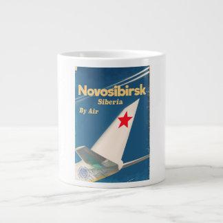 Caneca De Café Gigante Poster do vôo de Novosibirsk Sibéria União