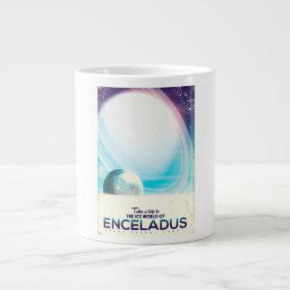 Caneca De Café Gigante Poster vintage da viagem espacial de Enceladus