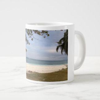 Caneca De Café Gigante Praia da ilha do búfalo-da-índia