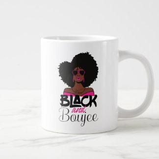 Caneca De Café Gigante Preto e mulher do afro-americano de Boujee