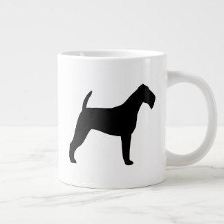 Caneca De Café Gigante Silhuetas de Terrier irlandês