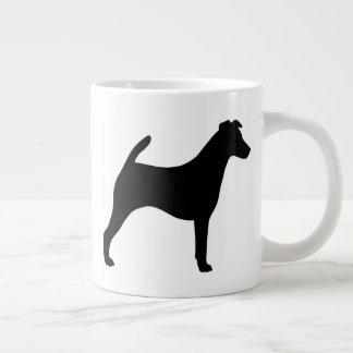 Caneca De Café Gigante Silhuetas lisas do Fox Terrier