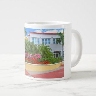 Caneca De Café Gigante St. Maarten, sinal de boas-vindas, fotografia,