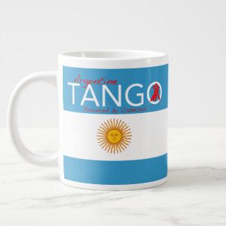 Caneca De Café Gigante Tango, como na vida - um haicai do tango (Cabeceo)