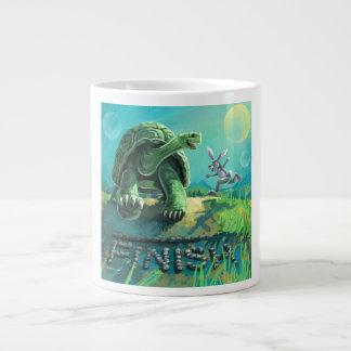 Caneca De Café Gigante Tartaruga e a arte da lebre