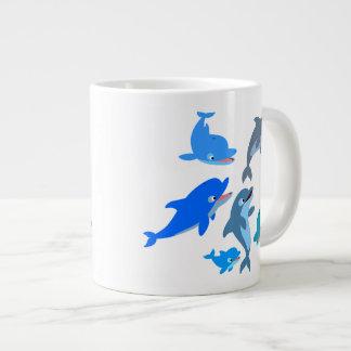 Caneca De Café Gigante Vagem bonito do golfinho dos desenhos animados