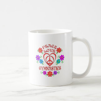 Caneca De Café Ginástica do amor da paz