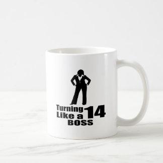 Caneca De Café Girando 14 como um chefe