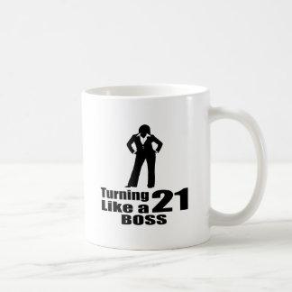 Caneca De Café Girando 21 como um chefe