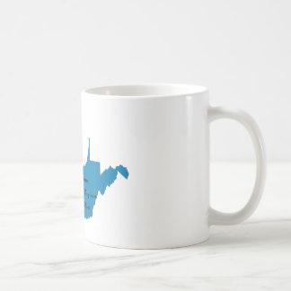 Caneca De Café Gire West Virginia azul! Orgulho Democrática