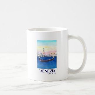 Caneca De Café Gôndola de Veneza Italia no canal grande com San