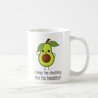 Caneca De Café Gordura carnudo mas boa do abacate engraçado