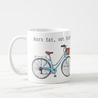 Caneca De Café Gordura da queimadura, não combustível
