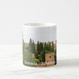 Caneca De Café Granada. Vista do Alhambra