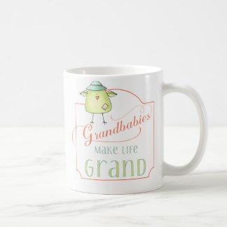 Caneca De Café Grandbabies faz a vida a tipografia grande com