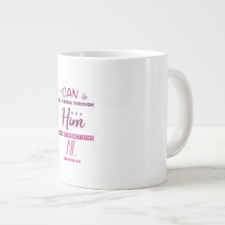 Caneca De Café Grande 4:13 dos Philippians - eu posso fazer todas as