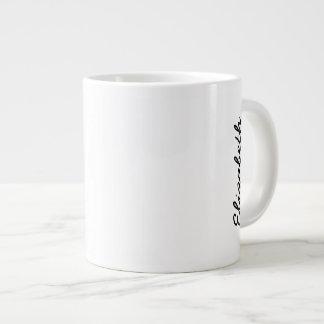 Caneca De Café Grande A cor sólida simplesmente branca personaliza-o