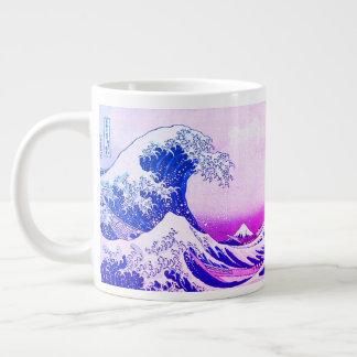 Caneca De Café Grande A grande onda fora de Kanagawa