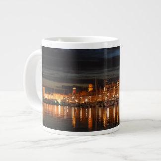 Caneca De Café Grande Agrida o porto enorme de Marselha - de Le vieux (o