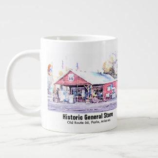 Caneca De Café Grande Aguarela histórica da loja geral da arizona da