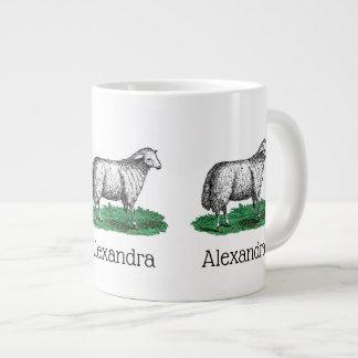 Caneca De Café Grande Animais de fazenda da ovelha dos carneiros do
