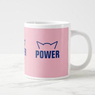 Caneca De Café Grande As orelhas que de gato subtis do poder do bichano