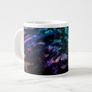 Caneca De Café Grande As palmeiras sob o arco-íris do beira-mar
