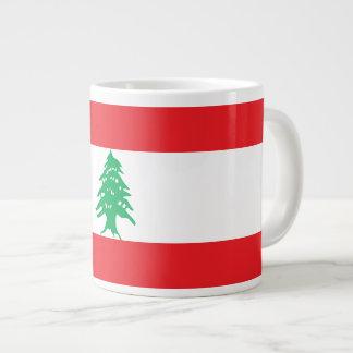 Caneca De Café Grande Bandeira de Líbano