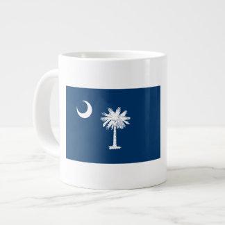 Caneca De Café Grande Bandeira de South Carolina