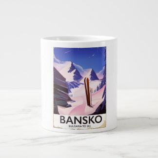 Caneca De Café Grande Bansko Bulgária a esquiar
