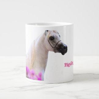 Caneca De Café Grande beleza. coleção do cavalo. branco árabe