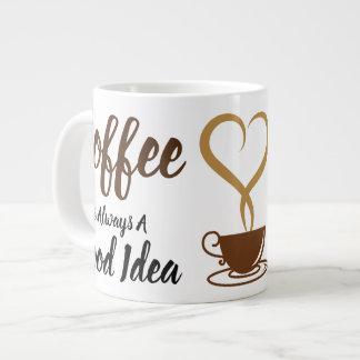 Caneca De Café Grande Bom jumbo da ideia