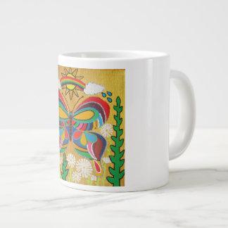 Caneca De Café Grande Borboleta colorida