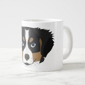 Caneca De Café Grande Cão de montanha de Bernese da ilustração
