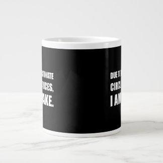 Caneca De Café Grande Circunstâncias infelizes eu sou citações