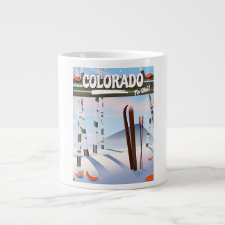 Caneca De Café Grande Colorado a esquiar!