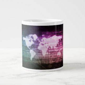 Caneca De Café Grande Conexão de rede global e integrado