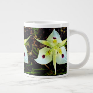 Caneca De Café Grande Copo feericamente de madeira da flor da floresta