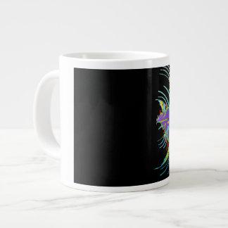 Caneca De Café Grande Cores do abstrato, as pretas e as multi