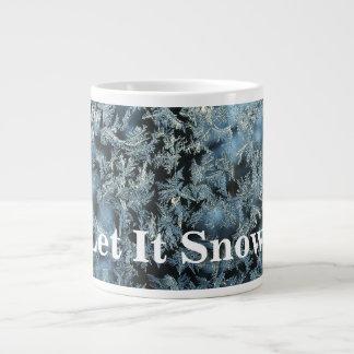Caneca De Café Grande Deixais lhe para nevar arte abstracta dura de