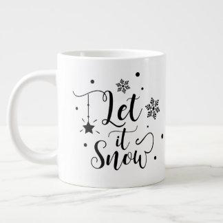 Caneca De Café Grande Deixais lhe para nevar/citações /Mug do Natal