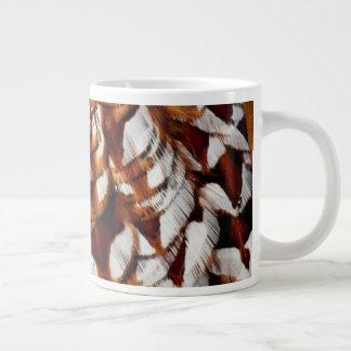 Caneca De Café Grande Design de cobre da pena do faisão
