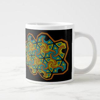 Caneca De Café Grande Design geométrico da Tri Seta