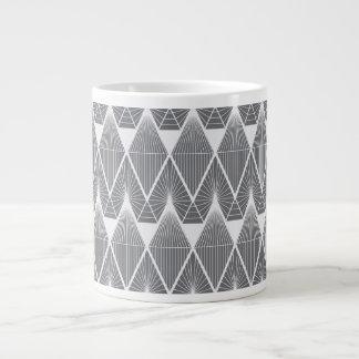 Caneca De Café Grande Diamantes cinzentos