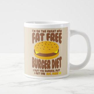 Caneca De Café Grande Dieta livre de gordura do hamburguer