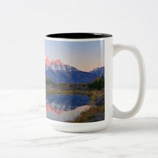 Caneca de café grande do parque nacional de Teton