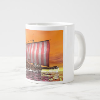 Caneca De Café Grande Drakkar ou navio de viquingue - 3D rendem